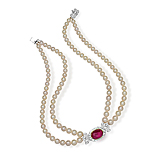 A PEARL AND RUBY NECKLACE -    - Spring Auction of Fine Jewels
