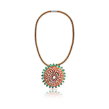 A CORAL AND DIAMOND PENDANT -    - Spring Auction of Fine Jewels