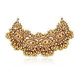 A TRADITIONAL GOLD AND GEM-SET NECKLACE -    - Spring Auction of Fine Jewels