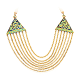 A GOLD, TURQUOISE AND ENAMEL NECKLACE -    - Spring Auction of Fine Jewels