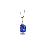 A TANZANITE AND DIAMOND PENDANT -    - Spring Auction of Fine Jewels
