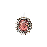 A TOURMALINE AND DIAMOND PENDANT -    - Spring Auction of Fine Jewels