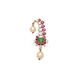 A MUGHAL INSPIRED RUBY, DIAMOND AND EMERALD BROOCH -    - Spring Auction of Fine Jewels