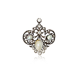 A VICTORIAN INSPIRED PEARL AND DIAMOND BROOCH -    - Spring Auction of Fine Jewels