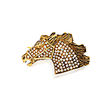 A DIAMOND `HORSE` BROOCH -    - Spring Auction of Fine Jewels