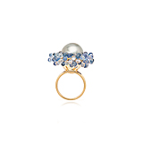A PEARL AND SAPPHIRE RING -    - Spring Auction of Fine Jewels