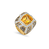 A CITRINE, DIAMOND AND COLOURED DIAMOND RING -    - Spring Auction of Fine Jewels