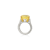 A YELLOW SAPPHIRE AND DIAMOND RING -    - Spring Auction of Fine Jewels