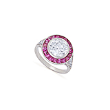 A STUNNING DIAMOND AND RUBY RING -    - Spring Auction of Fine Jewels