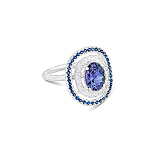 A TANZANITE, SAPPHIRE AND DIAMOND RING -    - Spring Auction of Fine Jewels