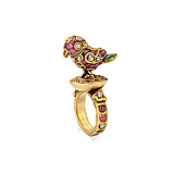 A RUBY AND DIAMOND `PARROT` RING -    - Spring Auction of Fine Jewels