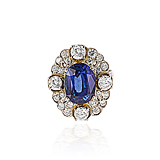 A VICTORIAN INSPIRED SAPPHIRE AND DIAMOND RING -    - Spring Auction of Fine Jewels
