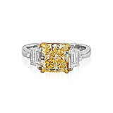 A FANCY YELLOW DIAMOND RING -    - Spring Auction of Fine Jewels