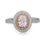 A COLOURED DIAMOND AND DIAMOND RING -    - Spring Auction of Fine Jewels