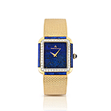 JAEGER-LECOULTRE: A LAPIS LAZULI AND GOLD LADIES WRISTWATCH -    - Spring Auction of Fine Jewels