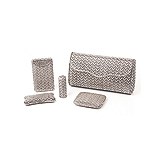 A SET OF WHITE GOLD LADIES ACCESSORIES -    - Auction of Fine Jewels & Watches