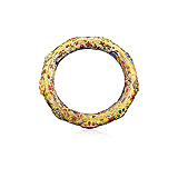A GOLD AND GEMSET `NAVRATTAN` BANGLE -    - Auction of Fine Jewels & Watches