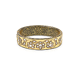 A DIAMOND AND GOLD BANGLE -    - Auction of Fine Jewels & Watches