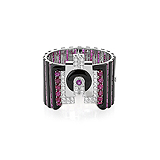 AN ART-DECO INSPIRED RUBY, DIAMOND AND ONYX CUFF -    - Auction of Fine Jewels & Watches