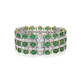AN EMERALD AND DIAMOND BRACELET -    - Auction of Fine Jewels & Watches