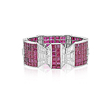 AN ART-DECO INSPIRED RUBY AND DIAMOND CUFF -    - Auction of Fine Jewels & Watches