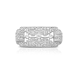 AN ART-DECO INSPIRED DIAMOND BROOCH -    - Auction of Fine Jewels & Watches