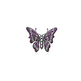 A PINK SAPPHIRE AND DIAMOND `BUTTERFLY` BROOCH -    - Auction of Fine Jewels & Watches