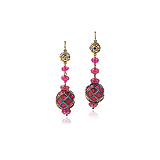 A PAIR OF RUBY EAR PENDANTS -    - Auction of Fine Jewels & Watches