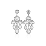 A PAIR OF DIAMOND EAR PENDANTS -    - Auction of Fine Jewels & Watches