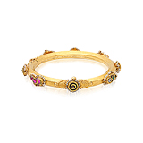 A GOLD AND MULTIGEM BANGLE -    - Auction of Fine Jewels & Watches