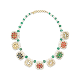 A GEMSET `NAVRATAN` NECKLACE -    - Auction of Fine Jewels & Watches