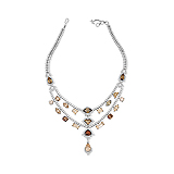 A COLOURED DIAMOND AND DIAMOND NECKLACE -    - Auction of Fine Jewels & Watches