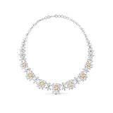 A STUNNING COLOURED DIAMOND AND DIAMOND NECKLACE -    - Auction of Fine Jewels & Watches