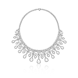 A MAJESTIC DIAMOND NECKLACE -    - Auction of Fine Jewels & Watches