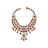 A RUBY AND `POLKI` DIAMOND NECKLACE -    - Auction of Fine Jewels & Watches