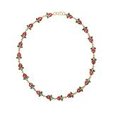 A RUBY AND DIAMOND `FLORETTE` NECKLACE -    - Auction of Fine Jewels & Watches