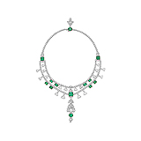 A STUNNING EMERALD AND DIAMOND NECKLACE -    - Auction of Fine Jewels & Watches