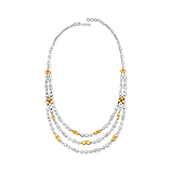 A DELICATE DIAMOND AND COLOURED DIAMOND NECKLACE -    - Auction of Fine Jewels & Watches