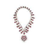AN EXQUISITE RUBY AND DIAMOND NECKLACE -    - Auction of Fine Jewels & Watches
