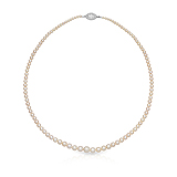 A NATURAL PEARL AND DIAMOND NECKLACE -    - Auction of Fine Jewels & Watches
