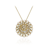 A DIAMOND AND PEARL PENDANT -    - Auction of Fine Jewels & Watches