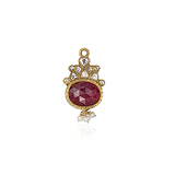 A RUBY AND DIAMOND PENDANT -    - Auction of Fine Jewels & Watches