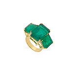 AN EMERALD RING -    - Auction of Fine Jewels & Watches