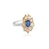 A SAPPHIRE AND DIAMOND RING -    - Auction of Fine Jewels & Watches