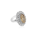 A COLOURED DIAMOND AND DIAMOND RING -    - Auction of Fine Jewels & Watches