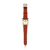 HERMES: LADIES `H H-OUR` GOLD WRISTWATCH -    - Auction of Fine Jewels & Watches