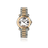 CHOPARD: LADIES `HAPPY SPORT` ROSE GOLD, STAINLESS STEEL AND DIAMOND WRISTWATCH -    - Auction of Fine Jewels & Watches