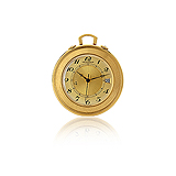 JAEGER LECOULTRE: GOLD POCKET WATCH -    - Auction of Fine Jewels & Watches