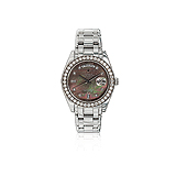 ROLEX: MENS PLATINUM AND DIAMOND `OYSTER PERPETUAL DAY-DATE` WRISTWATCH -    - Auction of Fine Jewels & Watches