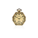 PATEK PHILIPPE: ENAMEL AND GOLD POCKET WATCH -    - Auction of Fine Jewels & Watches